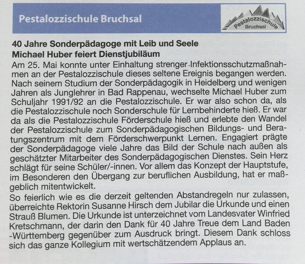 40 Jahre Sonderpädagoge M. Huber Pesta Bruchsal-kl